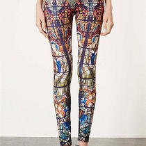 Topshop Stain Glass Print Multicolor Leggings Size  Uk8us4eur36  New Photo