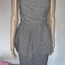 Topshop Strapless Knee Length Grey Dress . Size M. Brand New. Rrp 45 Photo