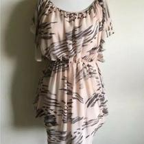 Topshop Stripe Blush Pink Black Short Sleeve Tunic Dress Size 0 2 Extra Small Xs Photo