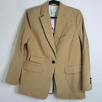 Topshop Tan Single Breasted Stylish Workday Suit Blazer Jacket Size 8 Photo