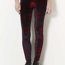 Topshop Velvet Check Leggings Newuk10 Photo