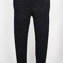 Topshop Women's Black Velvet Skinny Leg Elastic Waist Legging Pant Sz 4 Photo