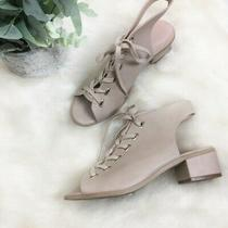 Topshop Women's Size8 Blush Pink Block Lace Up Heel Sandals Photo