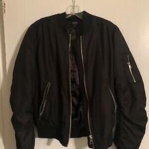 Topshop Womens Black Bomber Jacket Us Size 6 Photo