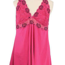 Torrid 1 Plus Size Hot Pink Mesh & Lace Babydoll Chemise Lingerie Gown Sexy Photo