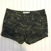 Torrid 20 Plus Size Shorts Camo Print Cuffed Cargo Button Flap Pockets Photo