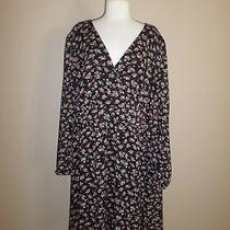 Torrid 4x Floral Elastic Waist Faux Wrap Knit Dress Photo