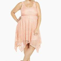 Torrid Apricot Blush All Over Lace Hanky Midi Dress Sz 3  Photo