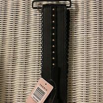Torrid Belt Size (1) Black Scallop Studded Stretch Faux Leather Photo