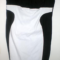 Torrid Black and White Color-Block Sheath Knee-Legnth Dress Size 20 Plus   Photo