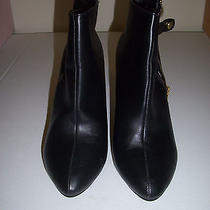 Torrid Black Ankle Wedge Boots 9w 10021820 Zipper Snap Strap Photo