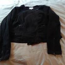 Torrid Black Denim Jean Moto Jacket Size 2 Photo