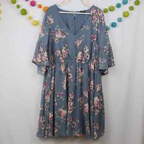 Torrid Blue Floral a-Line Dress Photo