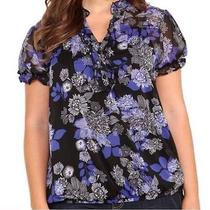 Torrid Blue Foral Top.  Photo