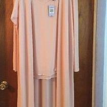 Torrid Blush Knit Chiffon Duster & Camisole Size 4 Photo