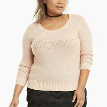 Torrid Blush Love Sweater Size 2x Photo
