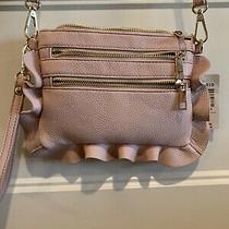 Torrid Blush Pink Cross Body Purse Bag Wrislet Handbag Clutch Ruffle Zipper Nwt Photo