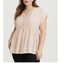 Torrid Blush Pink Dolman Tiered Babydoll Top Size 4 Photo