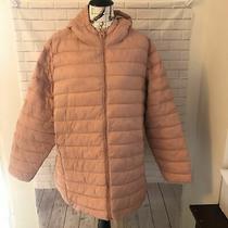 Torrid Blush Pink Nylon Packable Puffer Jacket Plus Size 3 Hood Photo