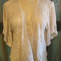 Torrid Cream Ivory White Lace Cardigan Shawl Bolero Sweater 4 26 28 4x Photo