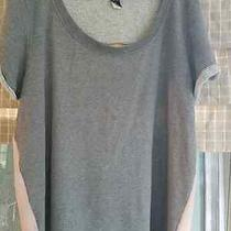 Torrid Gray & Blush Pink Chiffon Sweatshirt Sz. 2 Photo