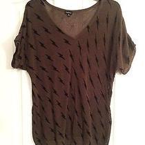 Torrid Lightweight Olive Open Knit Lightning Bolt Sweater Size 2  18/20 Photo