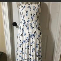 Torrid Mid Length White & Blue Sun Dress Photo