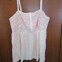 Torrid New Peach Blush Gauze Crochet Top Sz 2 2x 18/20 Bust 43 Length 30 Inches Photo