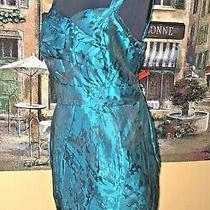 Torrid Pinup Teal Brocade Party Dress Plus 16 Nwt Photo