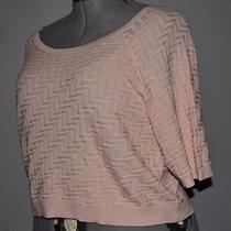Torrid Retro Pin Up Rockabilly Blush Pink Chevron Crop Sweater Plus Size 2 18/20 Photo