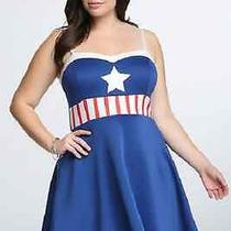 Torrid Sexy Pinup Marvel Comic Book Captain America Cosplay Dress Plus Size 2x Photo