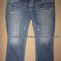 Torrid Silver Jeans Tuesday Capri Womens Plus 24 Ripped Faded Cropped Capris 3x Photo