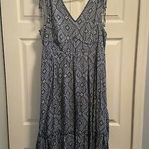 Torrid Size 1 Blue/gray Diamond Pattern Dress Photo