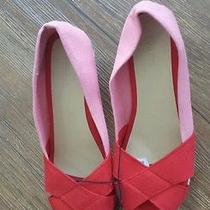 Torrid Size 10 Pink and Red Straw Wedge Shoes. Perfect for Valentines Day Photo
