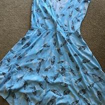 Torrid Size 2 Blue Feather Short Sleeve Dress Photo