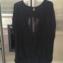 Torrid Size 4 Lace Crochet High Low Top Plus Size  Photo