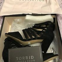 Torrid Suede Strappy Heeled Sandals Size 9.5 Photo