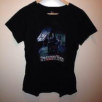 Torrid Tim Burton Johnny Depp Sweeney Todd Black Tee Plus Size 1x 14/16 Photo
