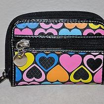 Torrid Wallet Coins Purse Multi-Colored Bright Color Hearts Zip Around New Photo