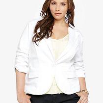 Torrid White Blazer Size 1 Plus Size Photo