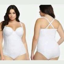 Torrid White Crochet Swimsuit Photo