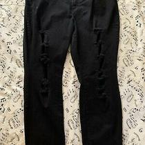 Torrid Womens Plus Size 24 Black Ripped/ Distroyed  Denim Jeans Photo