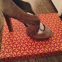 Tory Burch 4.8 Inch Platform Heels Size 8.5 Taupe Color. New.  Photo