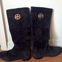 Tory Burch 8.5 Black Suede Boots Photo