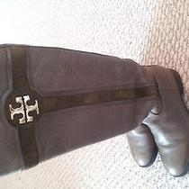 Tory Burch Alaina Brown Boot Size 5m Photo