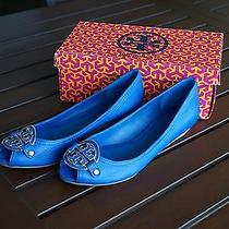 Tory Burch Amanda Demi Wedge Surf Blue Size 10.5 in Box Photo