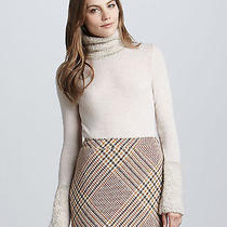Tory Burch Angelina Boucletrim Turtleneckdulce Beige Size L Retail 350 Photo