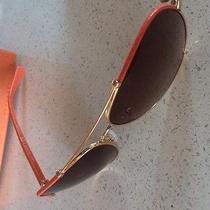 Tory Burch Aviator Sunglasses Ty 6021q C.39613 Gold & Orange Brown Gradient Lens Photo