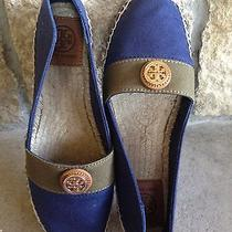 Tory Burch Beacher Flat Espadrille in Newport Navy/olive/tan - Brand New in Box Photo