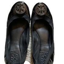 Tory Burch Black/gold Ballerina Flats Size 7 Photo